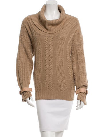 Stella McCartney Camel & Wool Sweater None