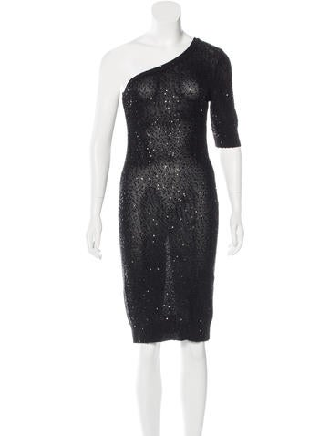 Stella McCartney Embellished One-Shoulder Dress w/ Tags None