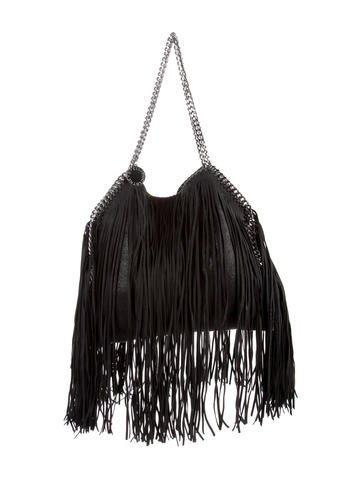 Stella McCartney Fringe Shaggy Deer Small Falabella Tote None