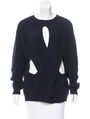 Stella McCartney Knit Cross Over Sweater w/ Tags None