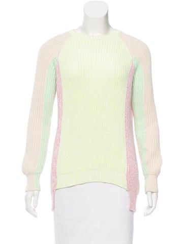 Stella McCartney Colorblock Rib Knit Sweater None