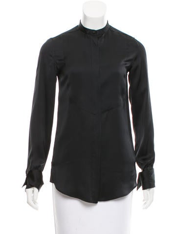 Stella McCartney Silk Long Sleeve Top None