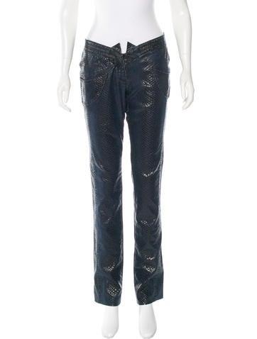 Stella McCartney Embossed Straight-Leg Jeans None