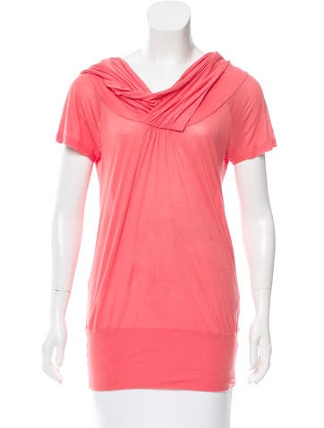 Stella McCartney Draped Short Sleeve Top None