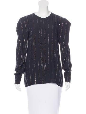 Stella McCartney Embellished Silk Top