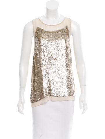 Stella McCartney Sequined Silk Top w/ Tags None