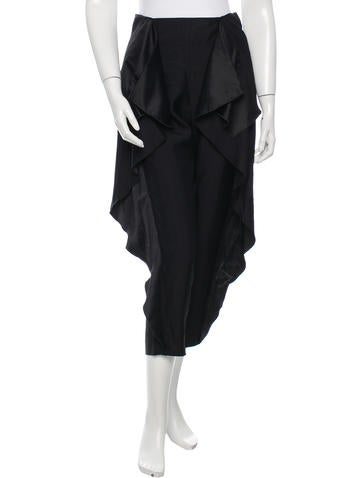 Stella McCartney Drape-Accented Straight-Leg Pants None