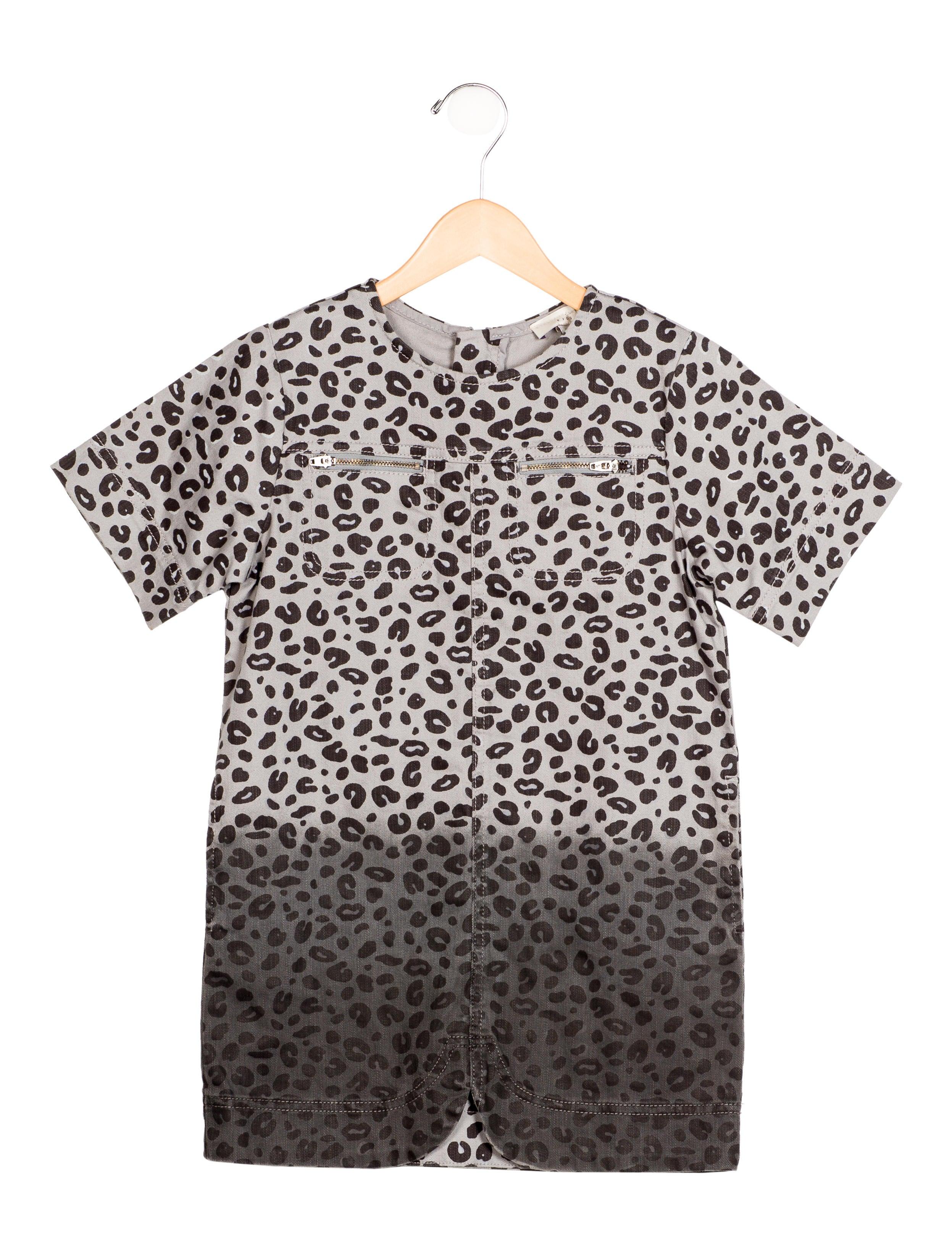 a2d58e6dac0 Stella McCartney Girls  39  Leopard Print Denim Dress w  Tags - Girls -
