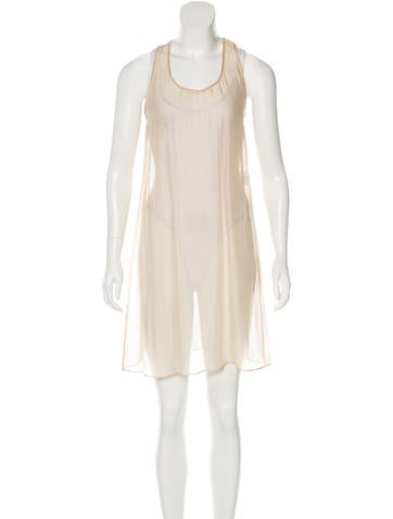 Stella McCartney Sheer Silk Dress w/ Tags None
