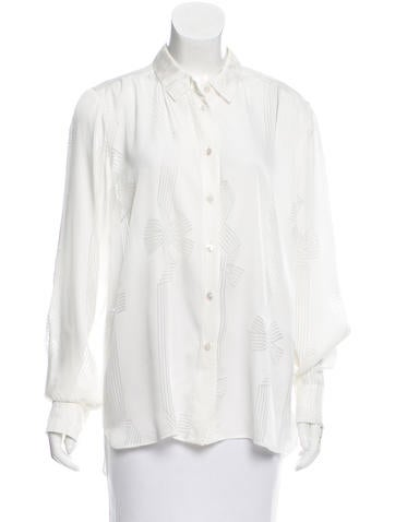 Stella McCartney Pattern Button-Up Top w/ Tags None