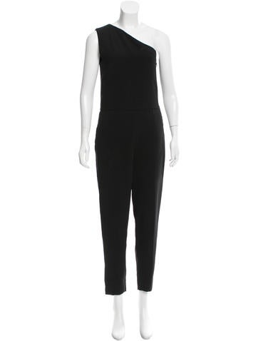 Stella McCartney One-Shoulder Straight-Leg Jumpsuit None