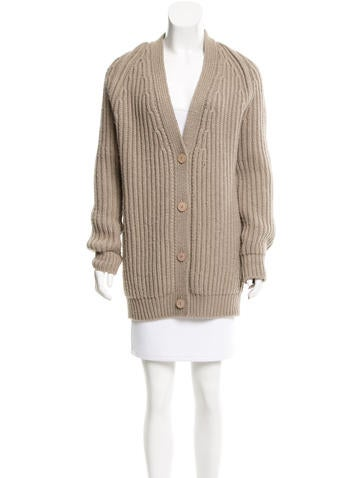 Stella McCartney Wool Chunky Knit Cardigan None