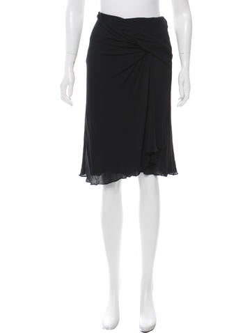 Stella McCartney Draped Knee-Length Skirt None