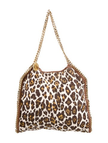 Stella McCartney Small Falabella Leopard Print Tote None