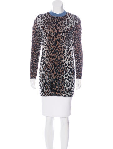 Stella McCartney Leopard Long Sleeve Sweater None