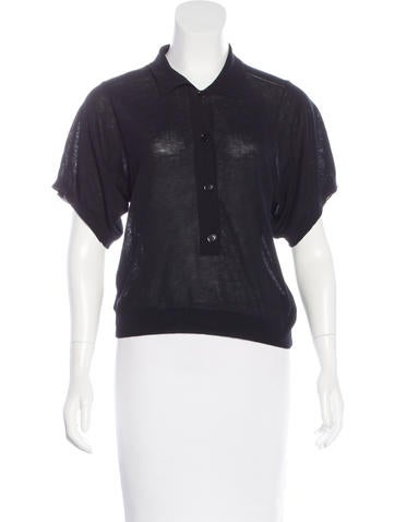 Stella McCartney Short Sleeve Button-Up Top None