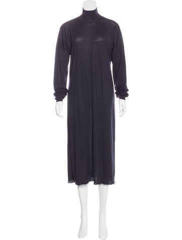 Stella McCartney Mock Neck Maxi Dress None
