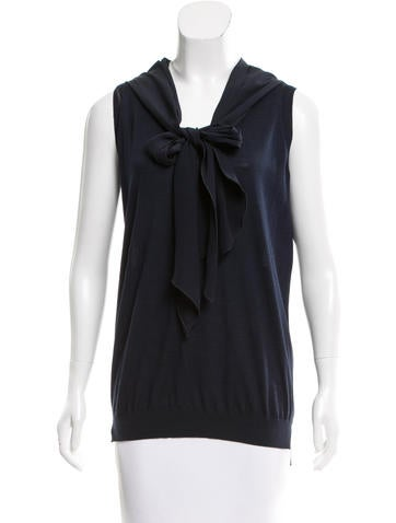 Stella McCartney Sleeveless Wool & Silk-Blend Sweater None