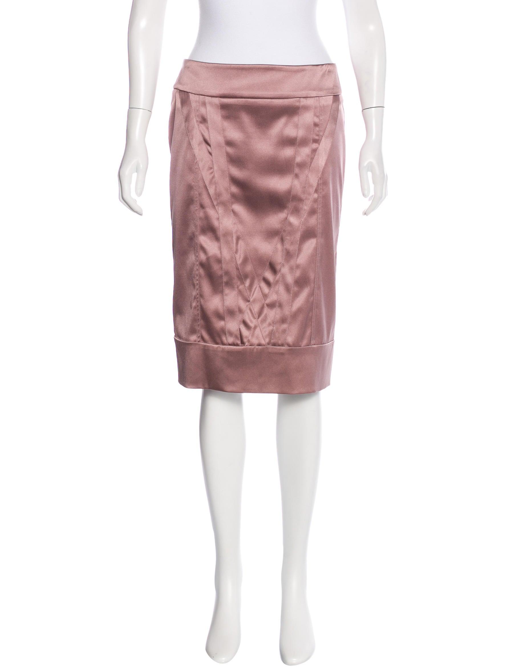 stella mccartney satin pencil skirt clothing stl46078