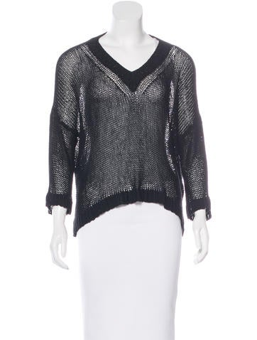 Stella McCartney Silk Open Knit Sweater None