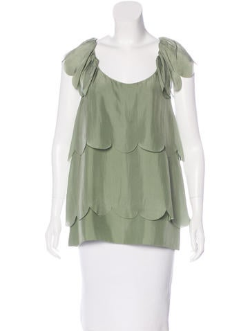 Stella McCartney Silk Sleeveless Top None