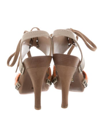 Canvas Slingback Sandals w/ Tags