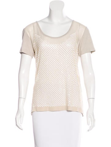 Stella McCartney Silk Embellished Top None