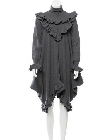 Stella McCartney 2016 Ruffled Wool Dress None