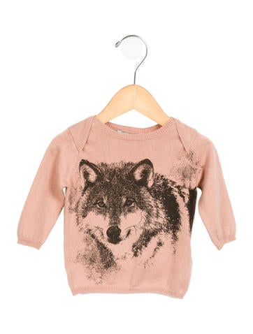 Stella McCartney Girls' Wolf Print Knit Top w/ Tags None