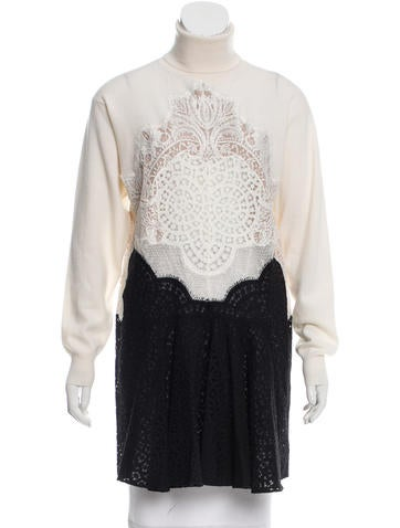 Stella McCartney Lace Knit Tunic None