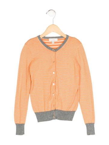 Stella McCartney Girls' Striped Rib Knit Cardigan None