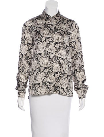 Stella McCartney Printed Silk Top None