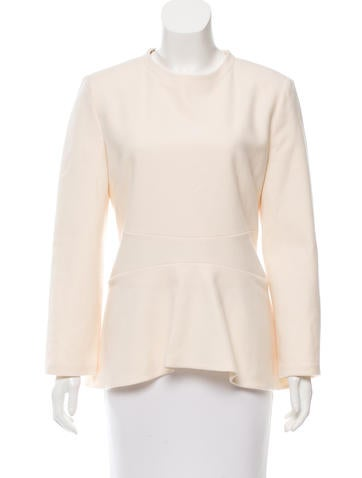 Stella McCartney Wool Flounce-Hem Top None
