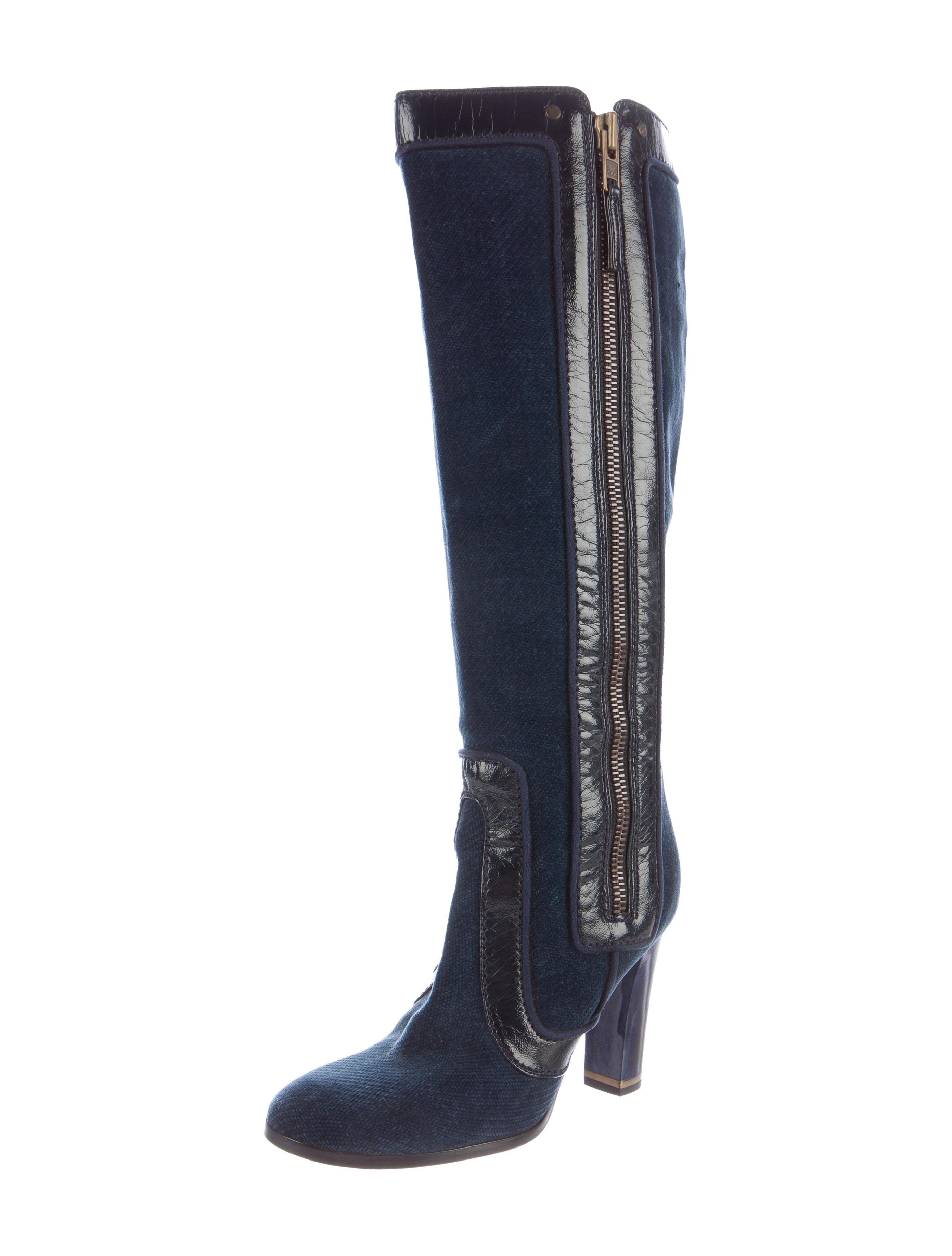 stella mccartney velvet knee high boots shoes stl47425
