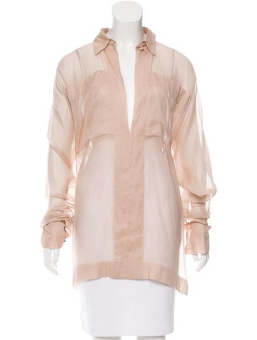 Stella McCartney Sheer Oversize Tunic None