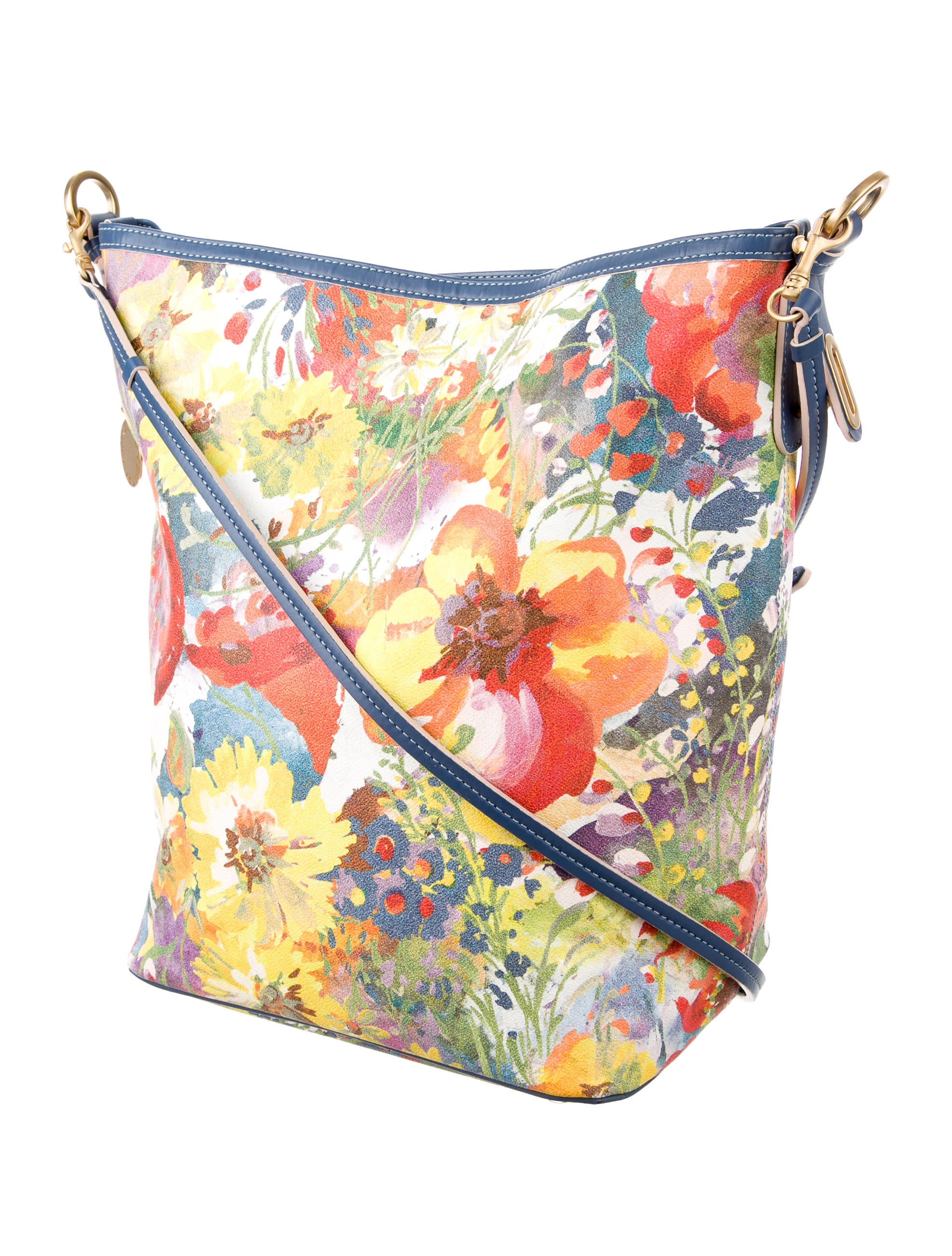 Stella McCartney Floral Print Vegan Leather Crossbody Bag - Handbags - STL48005 | The RealReal