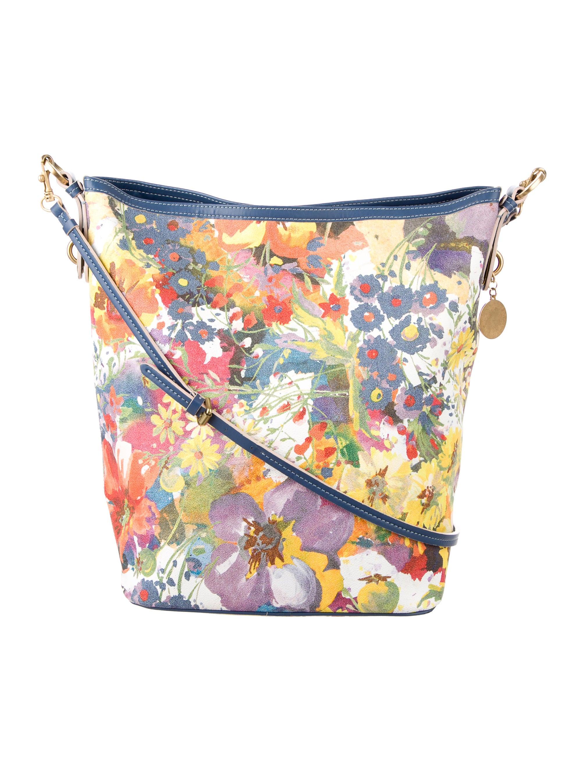 Stella McCartney Floral Print Vegan Leather Crossbody Bag - Handbags - STL48005 | The RealReal