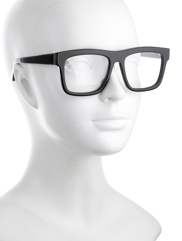 stella mccartney square chain link eyeglasses