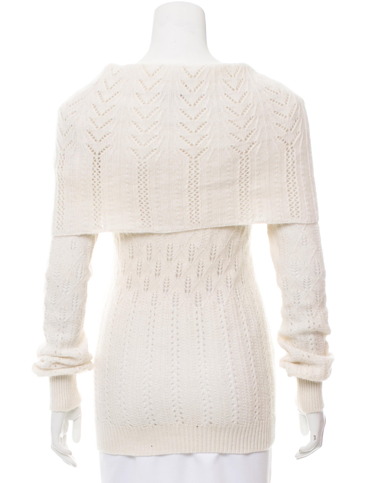 Open Knit Sweater Pattern : Stella McCartney Open Knit Cowl Neck Sweater - Clothing ...