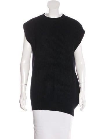Stella McCartney Rib Knit Wool-Blend Sweater None