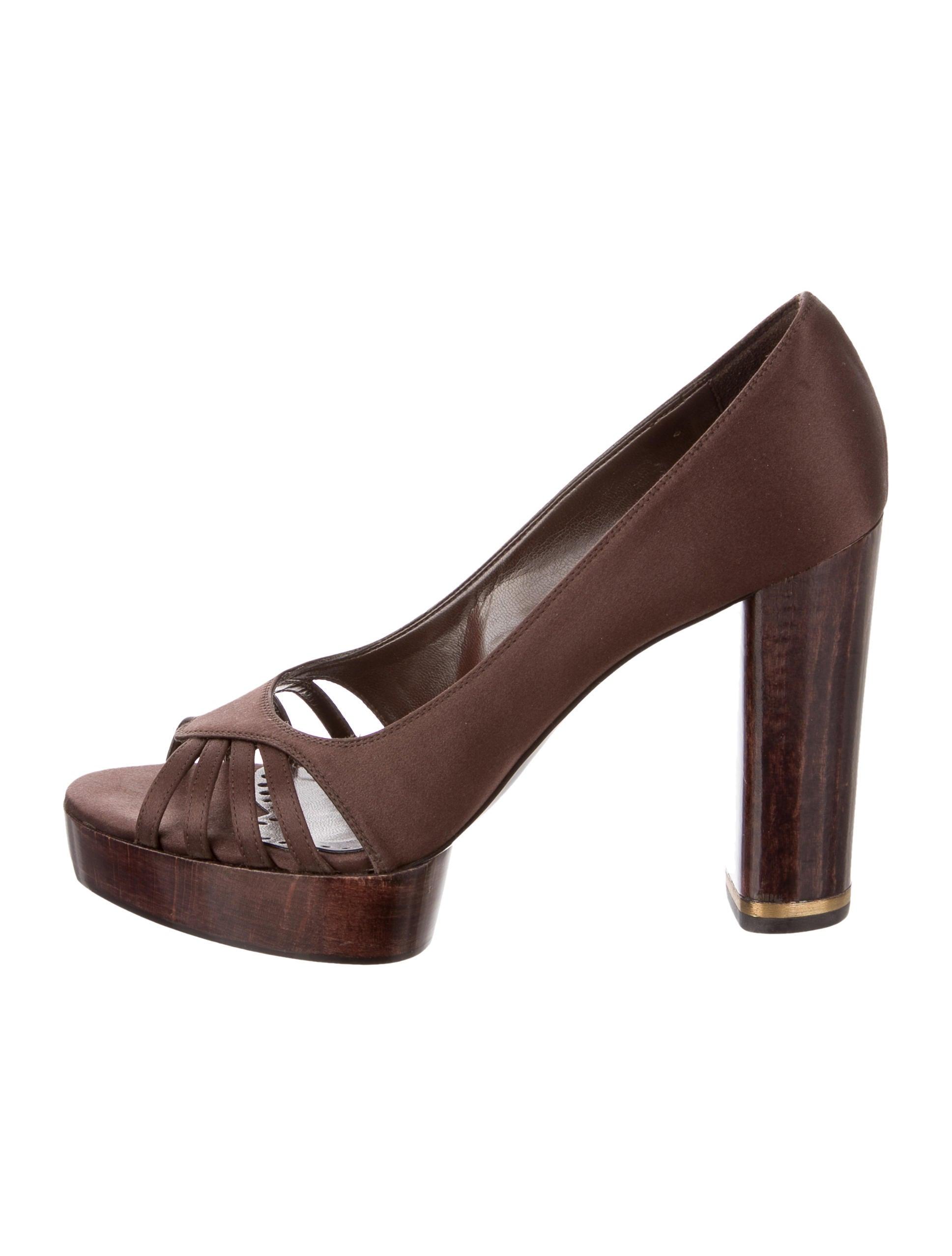 cheap price fake footaction cheap price Stella McCartney Satin Peep-Toe Pumps perfect online mHeFTM