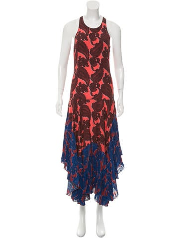 Stella McCartney Silk Paisley Print Dress None