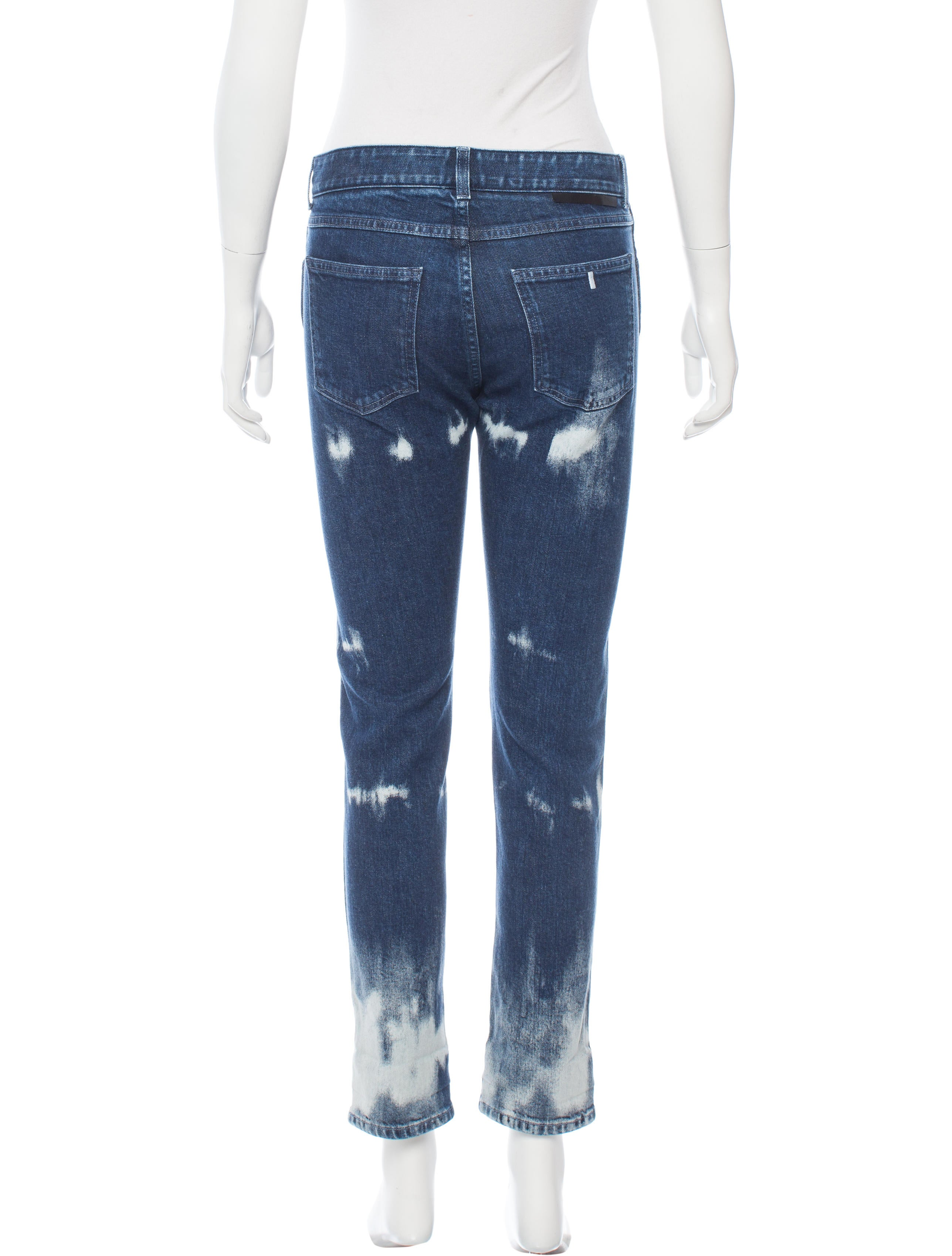 Stella mccartney embroidered straight leg jeans clothing