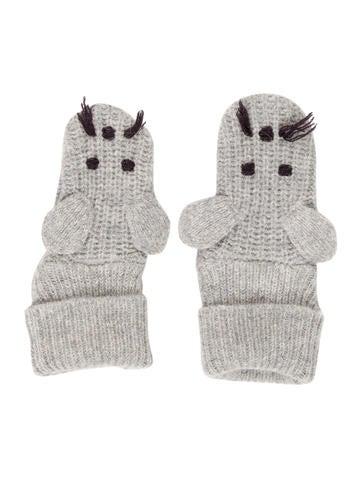 Stella McCartney Girls' Knit Mouse Mittens None
