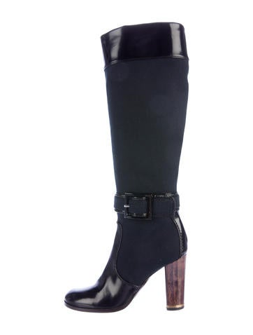 stella mccartney canvas knee high boots shoes stl48659
