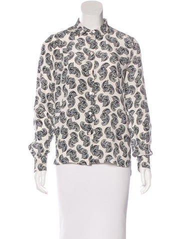 Stella McCartney Abstract Print Silk Top None