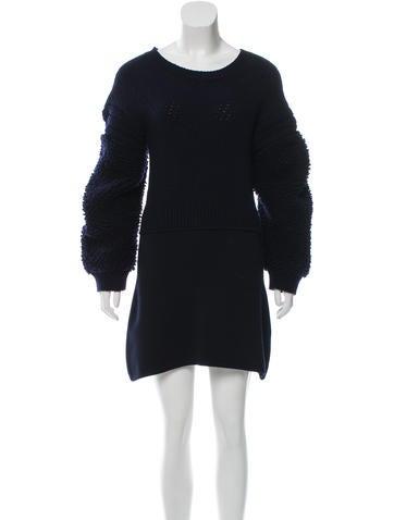 Stella McCartney Textured Wool Dress None