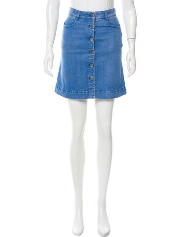stella mccartney denim mini skirt clothing stl48820