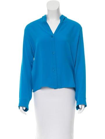 Stella McCartney Long Sleeve Silk Top None