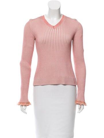Stella McCartney Rib Knit V-Neck Sweater None